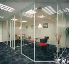 杭州办公室玻璃隔断 双层玻璃百叶隔断 玻璃门