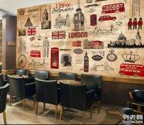 复古电影明星海报拼图墙纸壁画