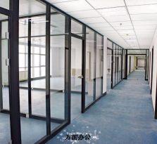 杭州铝材玻璃隔断、中空百叶隔墙、办公室高隔断隔墙